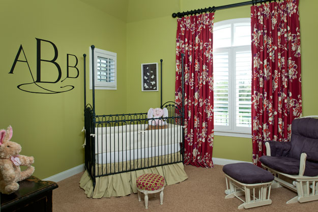 Nursery design with monogram